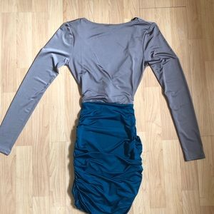 Dresses & Skirts - Sexy Bodycon Open Back Long Sleeve Dress size XS/S